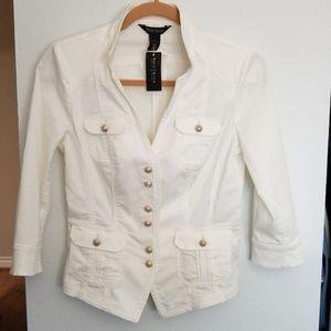 White Military Jacket 3Q
